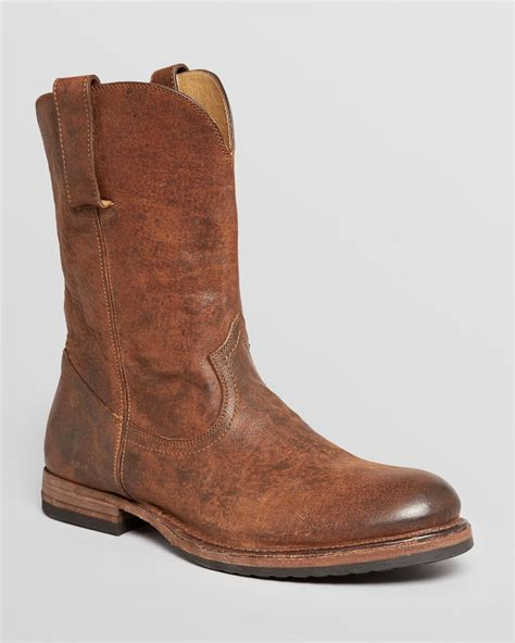 frye mens sneakers lyst frye jake roper leather cowboy boots in brown for