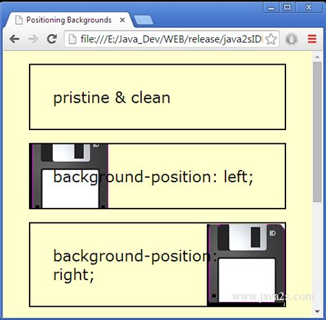 css layout menu left compare background image position left right top and