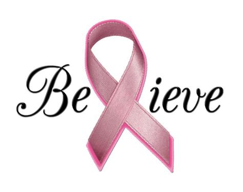 Think Pink For Breast Cancer Awareness by Pink Ribbon Believe Think Pink Breast Cancer