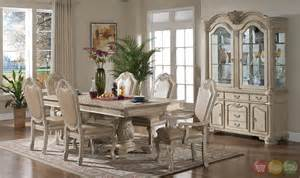 White Formal Dining Room Sets Betty Antique Traditional Light Wood Formal Dining Set