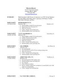 cnc machine operator resume paralegal description resume