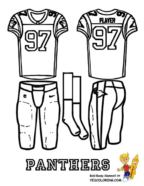 nfl jersey coloring pages big play nfc football uniform coloring page free nfl