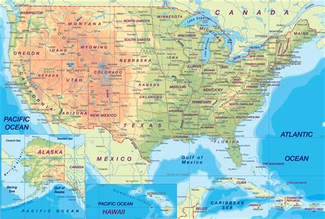 usa map with cities on it map of usa states and cities