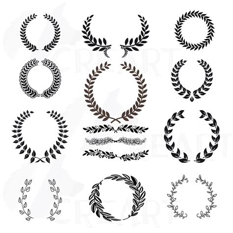 Laurel Wedding Clipart by Laurel Wreath Clipart Monogram Frames For Silhouette