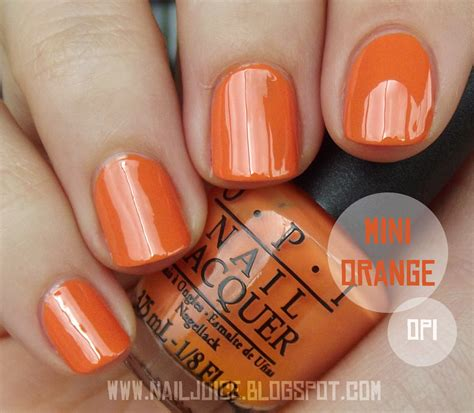 Skin Food Fruit Drink Nail 5 Orange nail juice opi hi pumpkin so skullicious 2012