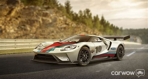 2016 Ford GT GT3 Martini race car imagined by carwow carwow