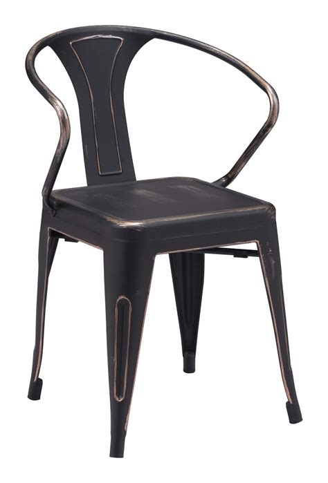 Antique Black Dining Chairs Helix Dining Chair Antique Black Gold Industrial Style Dining Chairs