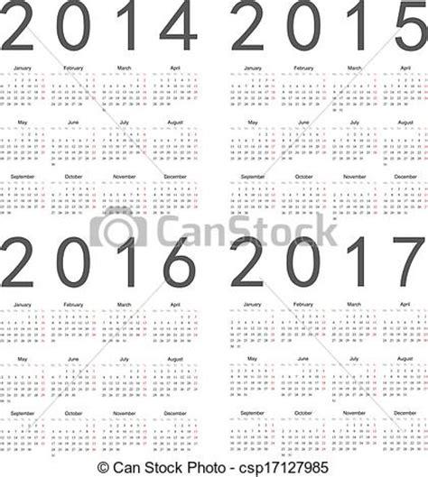 2014 weekly notes 2pg calendar euro week starts vector of set of square european 2014 2015 2016 2017
