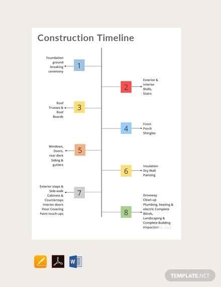 construction timeline samples   ms word