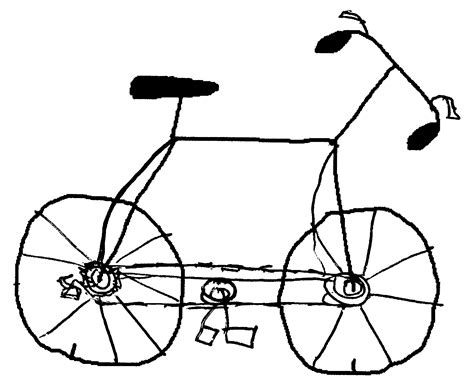 Road Bicycle Outline by Outline Drawings Of Clipart Best