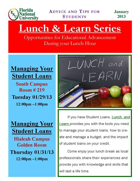Image Gallery Lunch And Learn Flyer Lunch And Learn Template