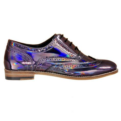 iridescent oxford shoes holographic iridescent metallic brogues brogues