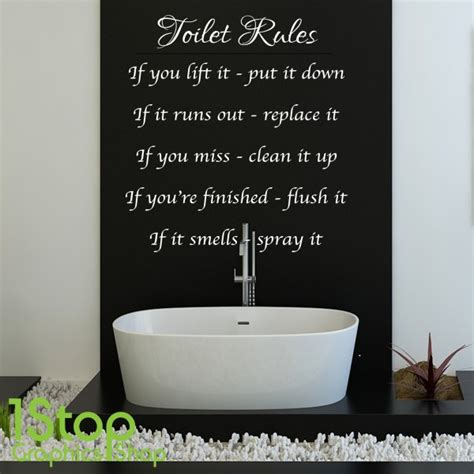 toilet wall stickers toilet wall sticker quote bathroom home wall