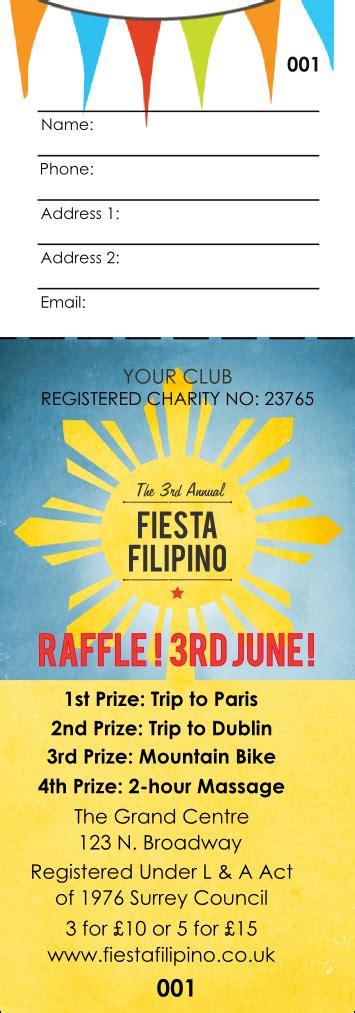 printing raffle tickets uk filipino fiesta raffle ticket