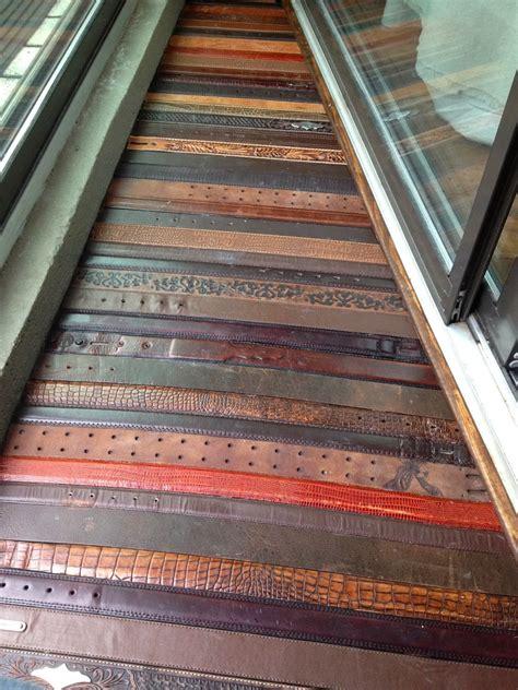 the suels repurposed leather belt floors