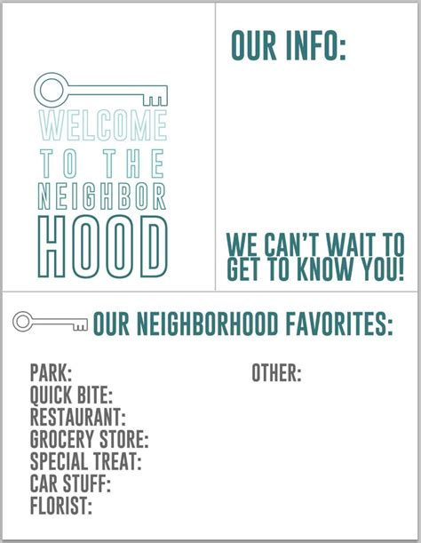welcome to the neighborhood card template 11 best sle newsletters images on