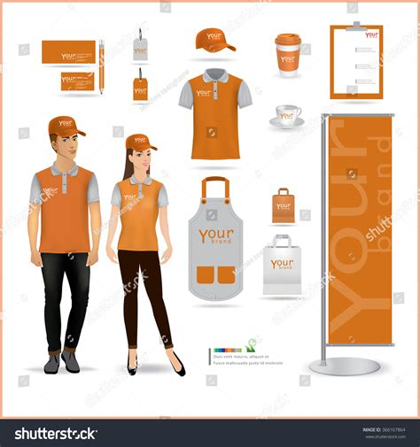 uniform design mockup vector menu package tshirt cap uniform stock vector