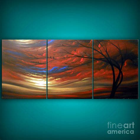 large paintings big large red landscape painting painting by matthew hamblen
