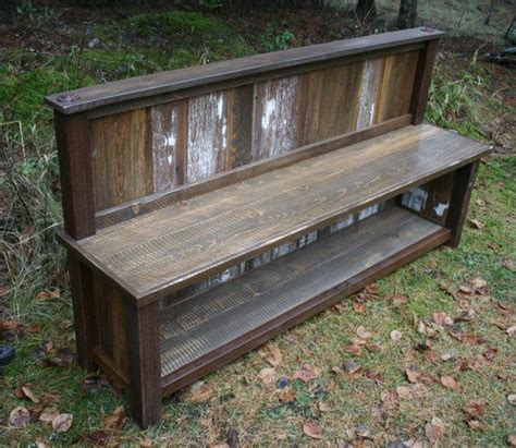 rustic reclaimed entry bench by echopeakdesign on etsy 17 best images about consoles on pinterest live edge