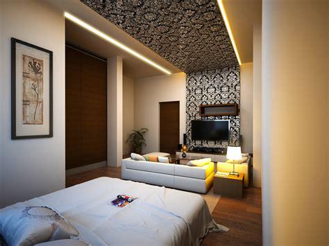 rendering master bedroom conceiled light wallpaper ary studios ary studios