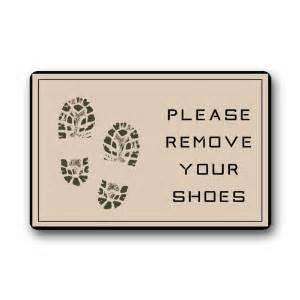 Please Take Your Shoes Off Doormat Custom Welcome Doormats Funny Footprint Quot Please Remove