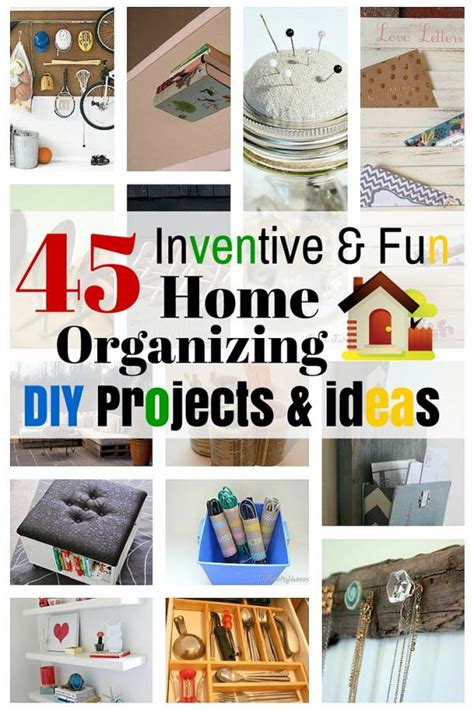 diy projects organizing 45 inventive home organizing diy projects ideas