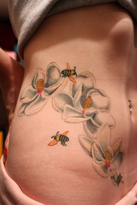 honeybee tattoo 55 bees and flowers tattoos