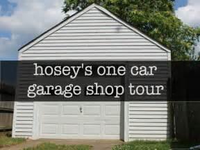 One Car Garage Workshop by Humble One Car Garage Shop Tour Video By Patrick