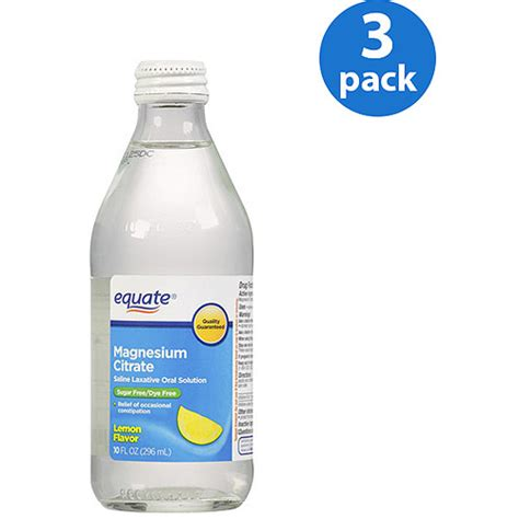 laxative walmart equate magnesium citrate lemon flavored saline laxative solution 10 fl oz pack