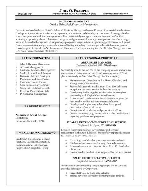 10 career sales manager resume writing resume sle