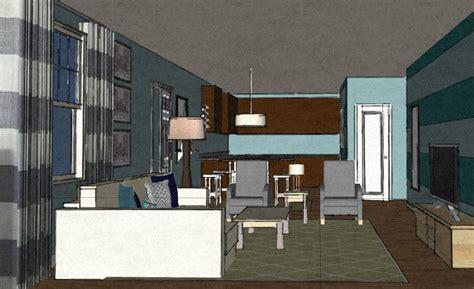 virtual interior design coastal contemporary living room in hstead nc