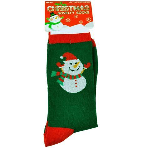 snowman green men s novelty christmas socks from ties