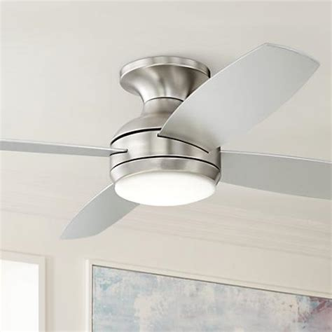 hugger 52 in brushed nickel ceiling fan 52 quot casa elite brushed nickel led hugger ceiling fan
