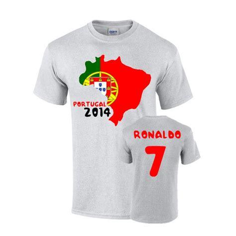Tshirt Portugal portugal 2014 country flag t shirt ronaldo 7 tshirtgrey