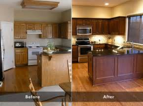 Staining Kitchen Cabinets Darker Before And After 17 Best Ideas About Oak Cabinet Kitchen On Pinterest Oak