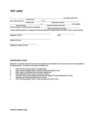 Fha Loan Gift Letter Requirements Gift Letter Fill Printable Fillable Blank Pdffiller