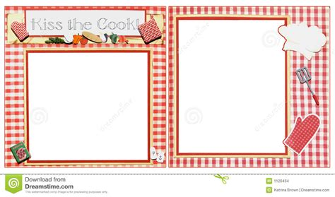 Punch Home Design Templates Download Cooking Scrapbook Frame Template Stock Images Image 1120434