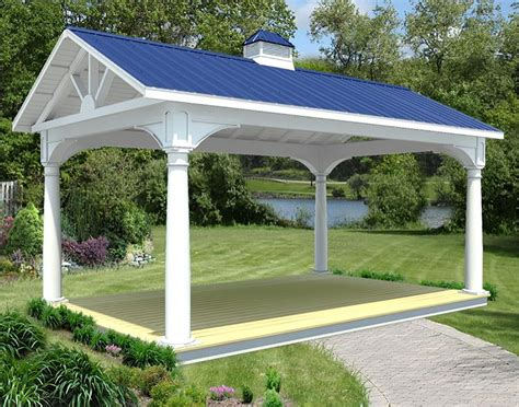 Gable Roof Gazebo Vinyl Gable Open Rectangle Gazebos Gazebos By
