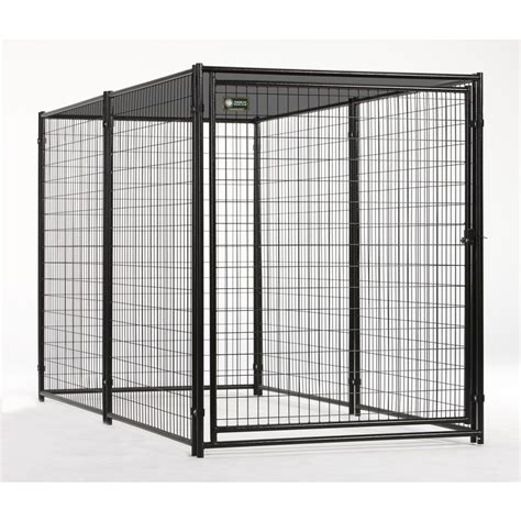 lowes kennels shop akc 5x10 probreeder welded wire kennel with cover at lowes