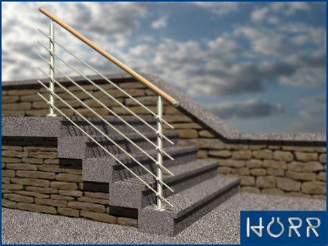 va treppengeländer innen gel 228 nder f treppe boden rundstab holz handlauf