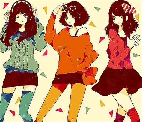 Anime 3 Friends by 3 Anime Friends Www Pixshark Images Galleries With