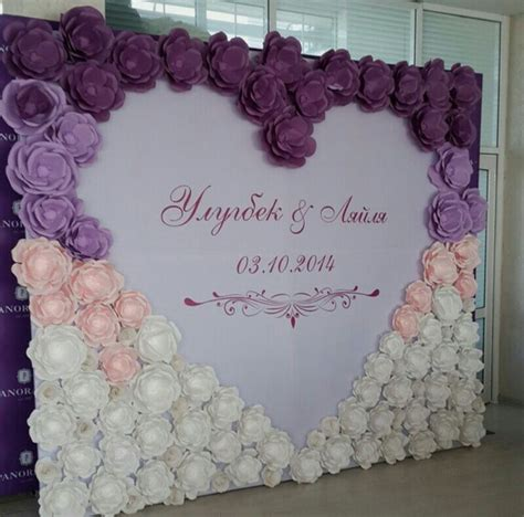 How To Make Paper Flowers For Wedding Decorations - paper flowers wedding paper backdrop