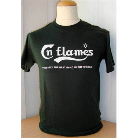 the best band in the world in flames probably the best band in the world t shirt