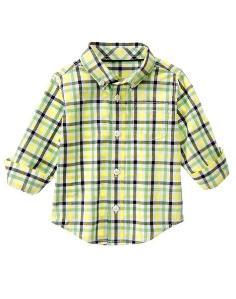 Gymboree Plaid Shirt toddler boys green plaid plaid shirt by gymboree