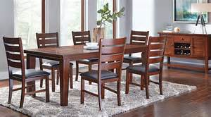 dining room sets 7 lake tahoe brown 7 pc rectangle dining room dining room