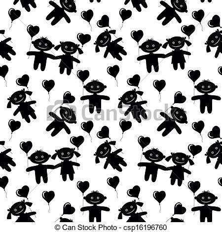 clip art de vectores de silueta ni 241 a llevando vaquera clip art de vectores de ni 241 os seamless silueta