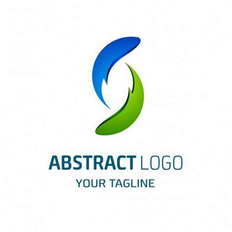 blue  green abstract shapes logo vector