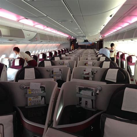 Qatar A380 Cabin by Look At Qatar Airways A380 One Mile At A Time