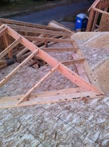 Open Gable Porch Roof Framing Tying Into A Exsisting Roof Framing A Cross Gable