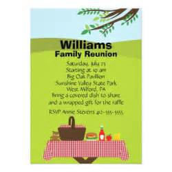 customizable family reunion 5x7 paper invitation card zazzle